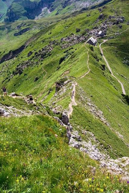 Sestup k chatě Pfälzerhütte - Lichtenštejnsko