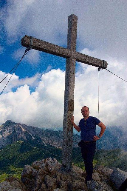 Já (Radim Dostál) na vrcholu Augstenberg - Lichtenštejnsko