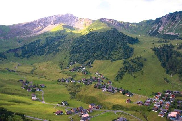 Malbun focený ze Sareis - Lichtenštejnsko