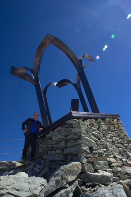 Já (Radim Dostál) na vrcholu Mittelallalin