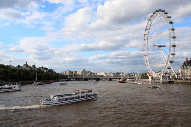 London Eye a Temže