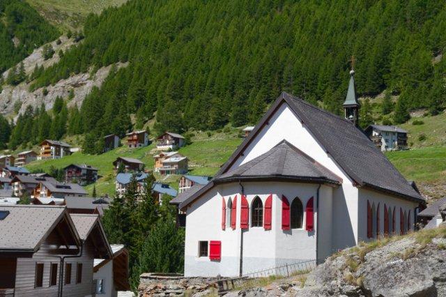 Kostel v Saas-Fee - Švýcarsko