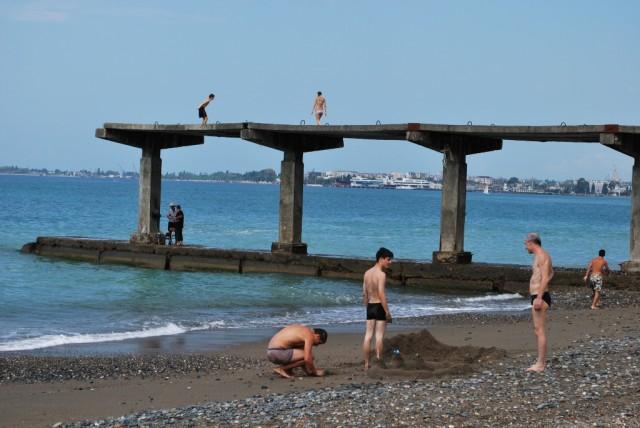 Pláž u Černého moře