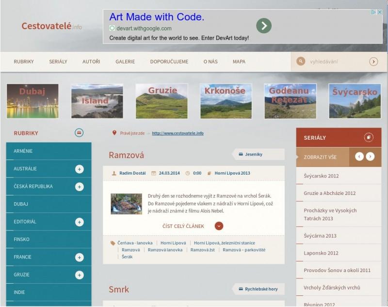 Design webu nasazený v březnu 2014