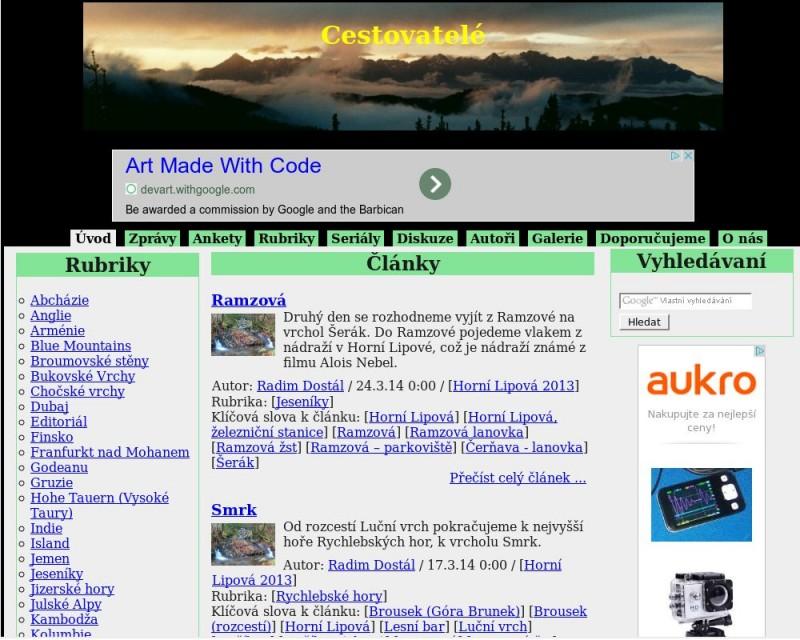 Původní design webu