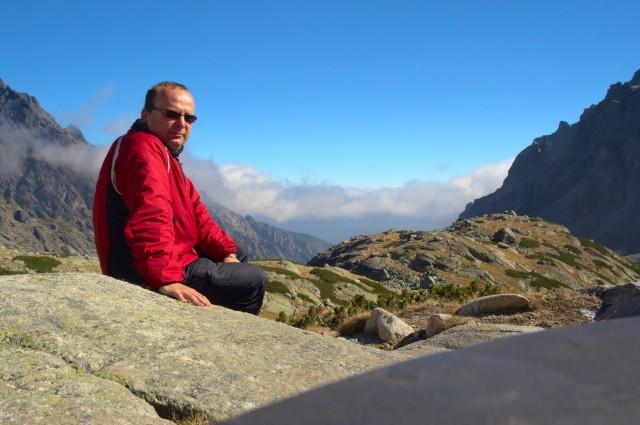Já (Radim Dostál) u Zbojnické chaty - Vysoké Tatry