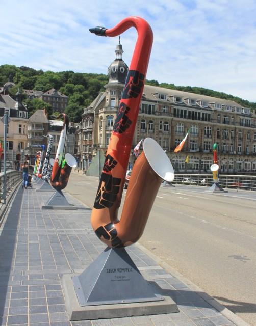 Česky saxofon na mostě