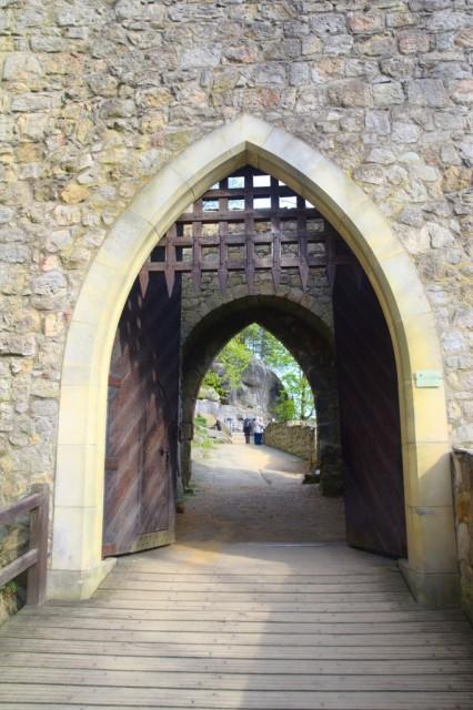 Hrad Oybin - brána