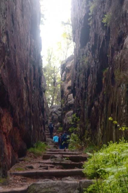 Skalní chodba v Zigeunerstuben (Cikánské světničky) - Lužické hory