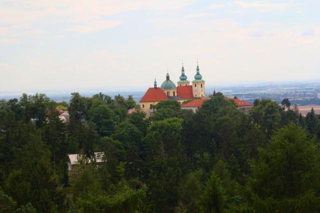 Výhled z rozhledny na Svatém Kopečku