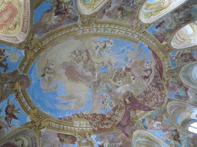 Freska na stropě Sálu předků