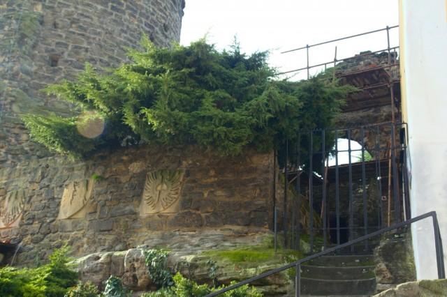 Hrad Jenštejn - vchod