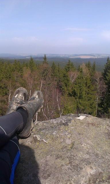 Nohy na vrcholu Devět skal