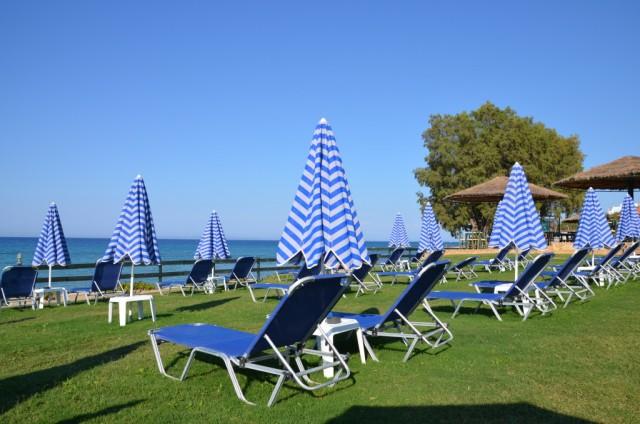 Pláž na trávě - Řecko