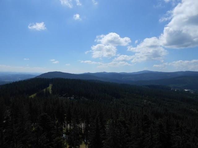 Výhled z vrcholu Stezky