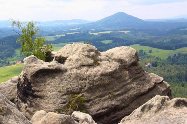 Vileminina stěna - české Švýcarsko