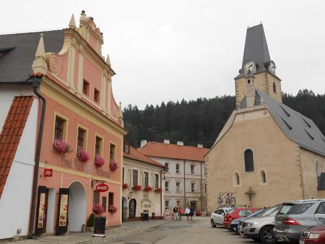 Náměstí v Rožmberku nad Vltavou
