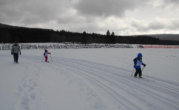Děti na běžkách