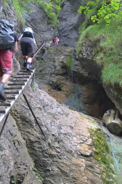 Misové vodopády při nedostatku vody - Slovenský ráj