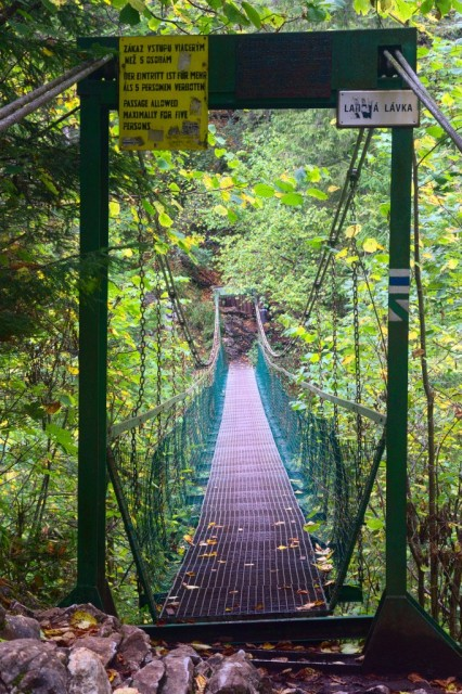 Üstie Kláštorské rokliny - most přes Hornád, Slovenský ráj