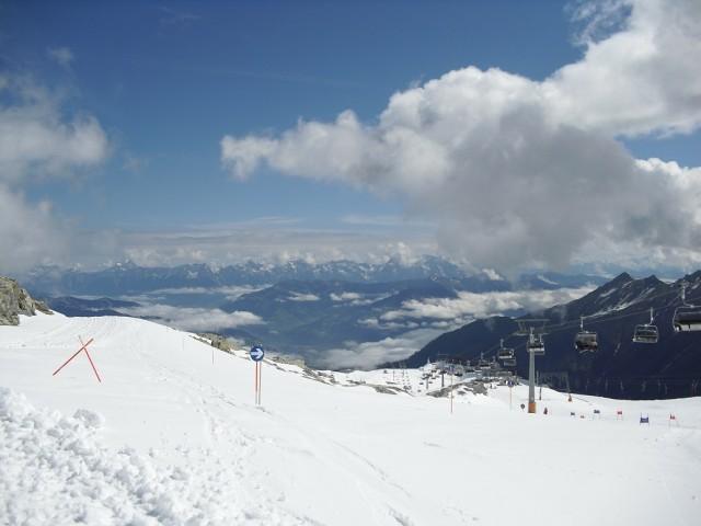 Nebe téměř na dosah pod vrcholem ledovce Kitzsteinhorn