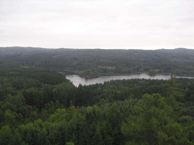Česká Kanada při pohledu z Velké věže