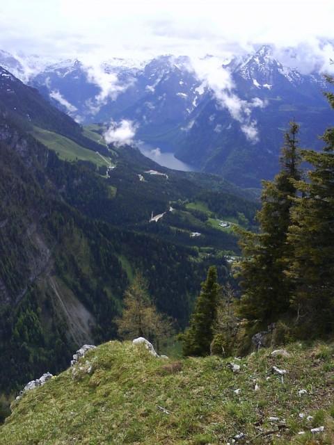 Výhled na vrcholky Alp z Kehlsteinu