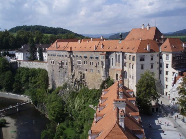 Pohled na Horní hrad z věže