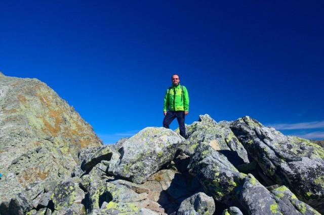 Já (Radim Dostál) na vrcholu malý Kriváň - Vysoké Tatry