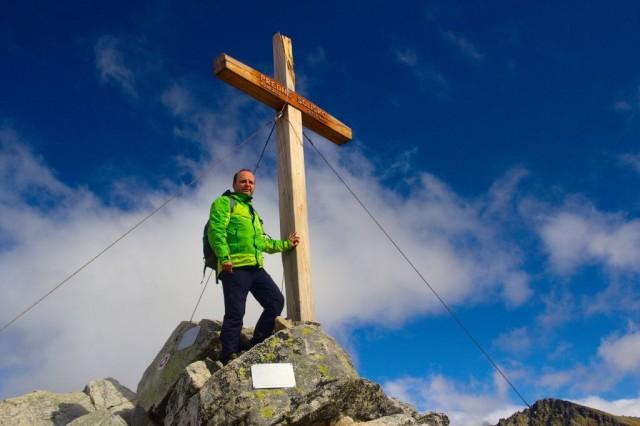 Já (Radim Dostál) na vrcholu Predné Solisko