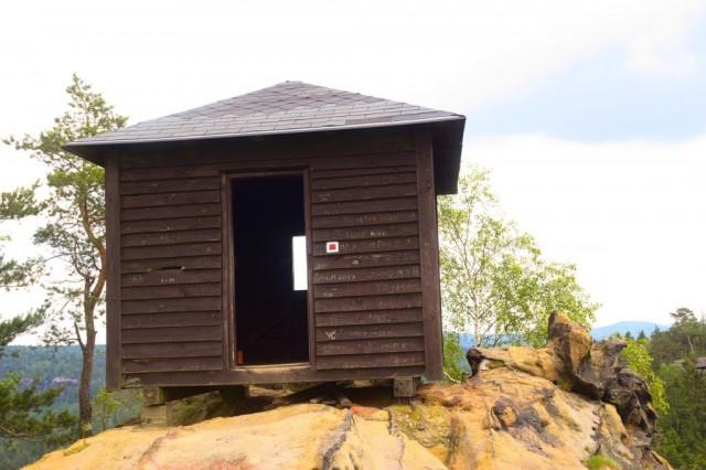 Rudolfův kámen, vrchol - České Švýcarsko