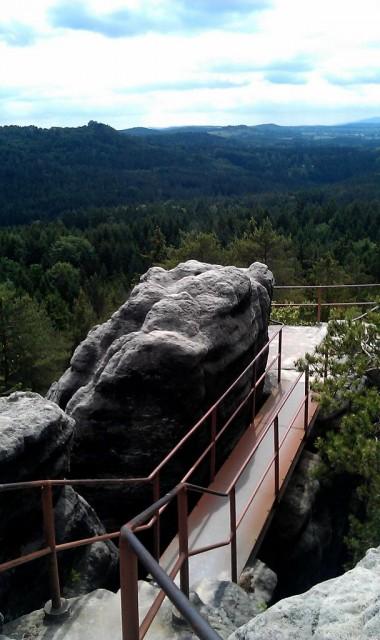 Výhled z hradu Šaunštejn - České Švýcarsko
