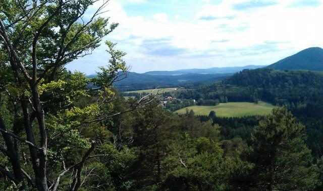 Výhled z Malé Pravčické brány - Českosaské Švýcarsko