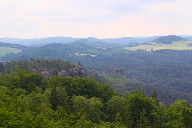 Výhled z Rudolfova kamene - České Švýcarsko