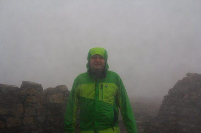 Já (Radim Dostál) na vrcholu Ben Nevis