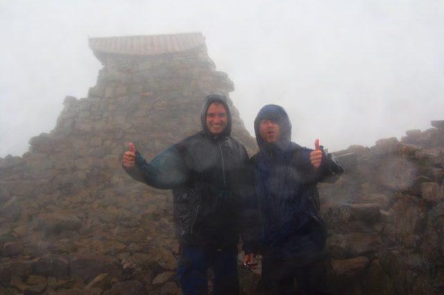 Milan a Honza na vrcholu Ben Nevis