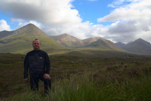 Já (Radim Dostál) na ostrově Skye - Skotsko
