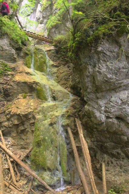 Malý vodopád v roklině Malý Kyseľ - Slovenský Ráj
