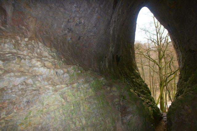Jeskyně Jáchymka - pohled ven ze Síně světla, Moravský kras
