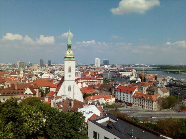 Výhled z hradeb Bratislavského hradu