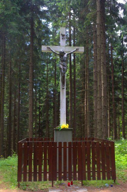 Bílý kříž v osadě Bílý Kříž, Moravskoslezské Beskydy