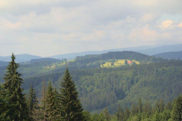Výhled na Grůň z Bílého Kříže, Moravskoslezské Beskydy