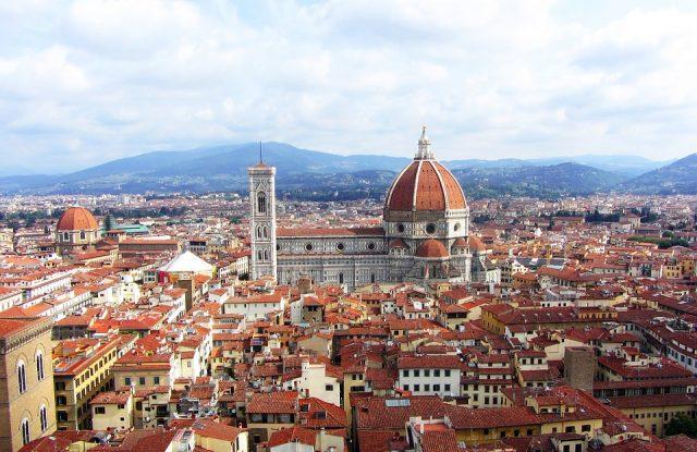 obr. 1. Pohled na Florencii