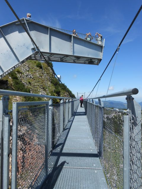 Vyhlídka a závěsný most stezky 360°Skytour