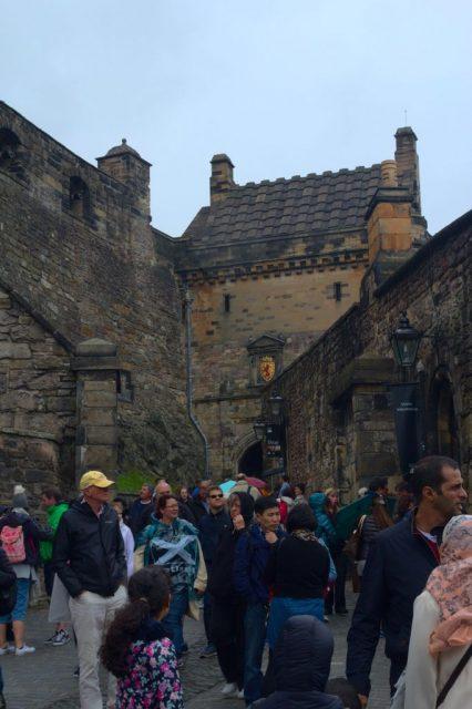 Nádvoří Edinburského hradu