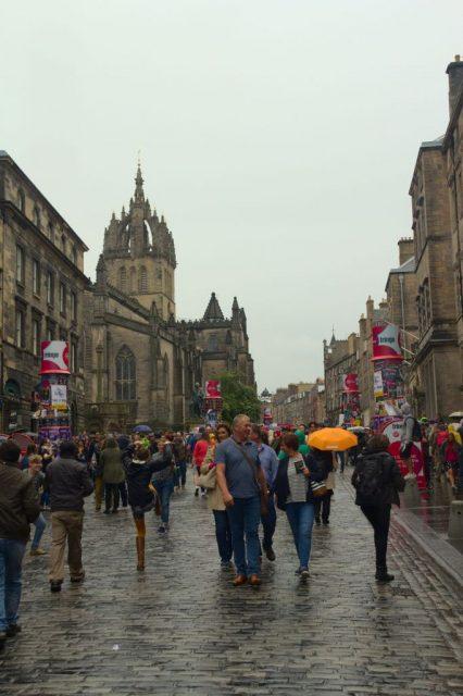 Royal Mile (Královská Míle) - centrum Starého Města, Edinburgh