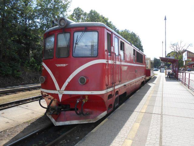 Vlaková stanice úzkokolejky v Jindřichově Hradci