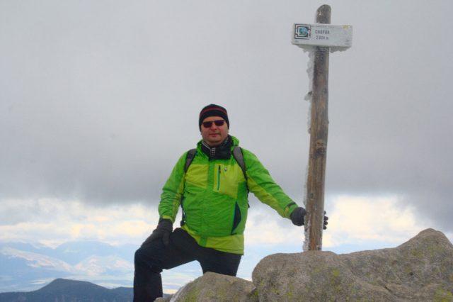 Já (Radim Dostál) na vrcholu Chopok - Nízké Tatry