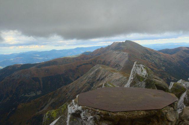 Výhled z vrcholu Chopok, Nízké Tatry