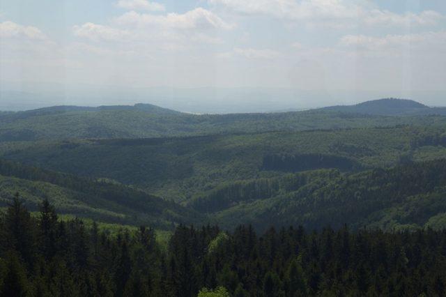 Výhledy z rozhledny na vrcholu Brdo, Chřiby